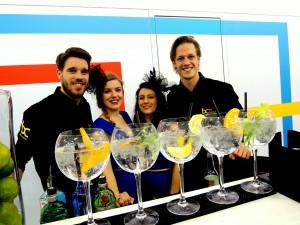 Gin Cocktails op de beursstand