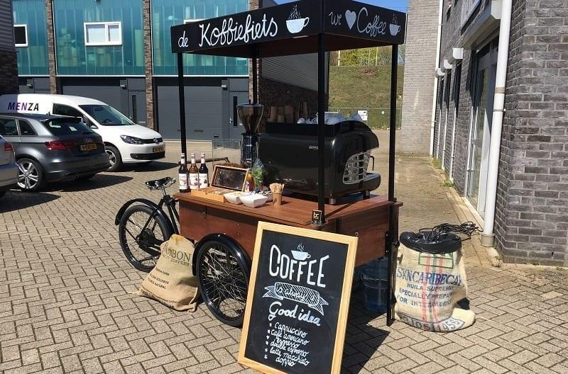 Koffie fiets huren op locatie