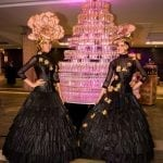 Champagentoren met champagne hostesses van Bar Company
