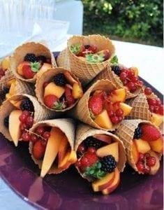 een mobiele fruitbar huren met vers fruit op locatie