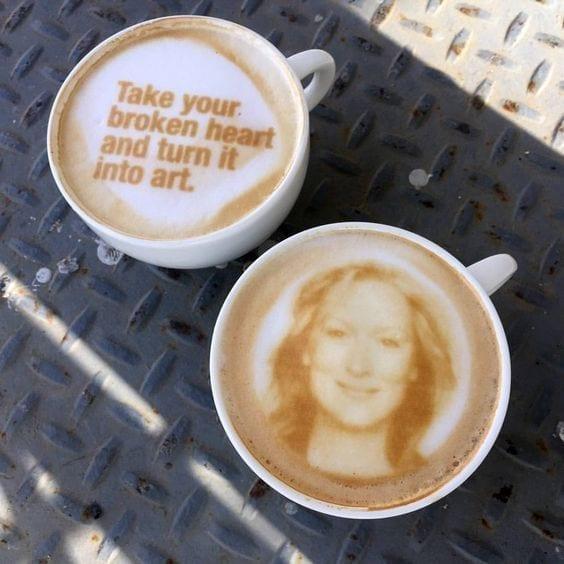 cappuccino printer huren bij Bar Company