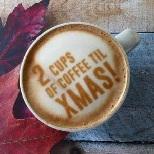 persoonlijke  koffie met logo op de beursstand