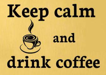 Bar Company keep calm and drink coffee