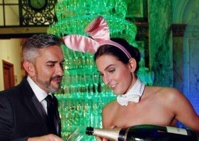 Champagne en prosecco toren van Bar Company