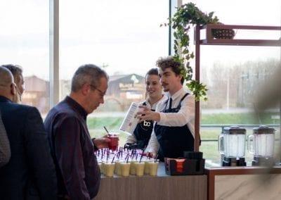 Smoothiebar met bartender menukaart - Bar Company