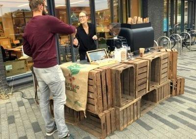 Koffiebar houten kisten - Bar Company